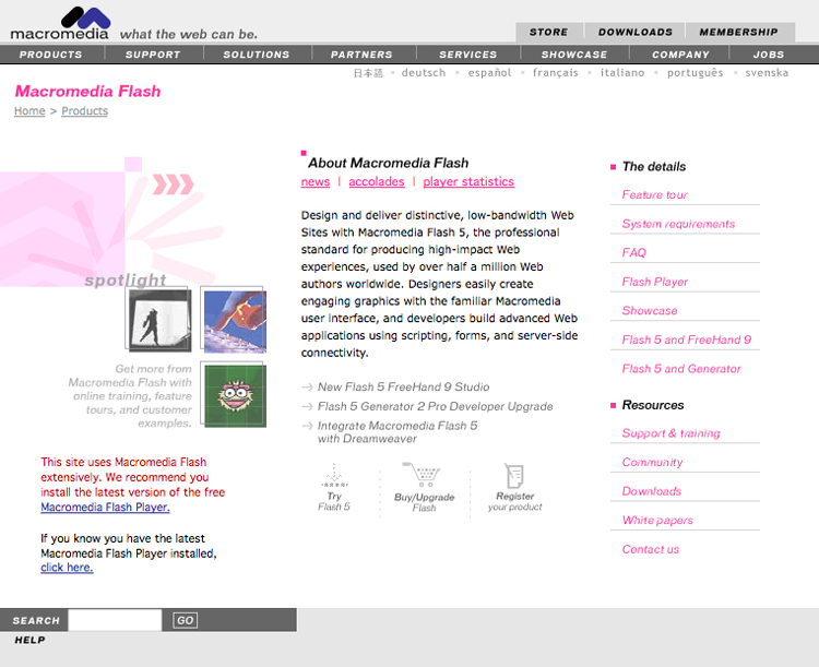 macromedia flash player 9